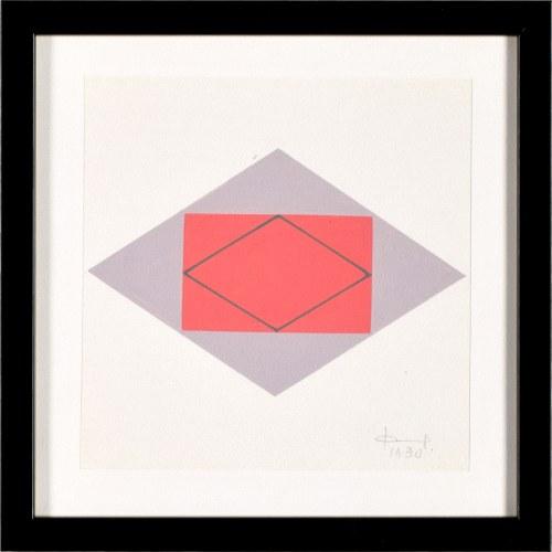 Jan Chwałczyk (Ur. 1924 Krosno), Układ geometryczny I, 1990
