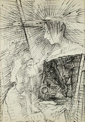 Kiejstut Bereźnicki (ur. 1935), Malarz i modelka, 1989 r.