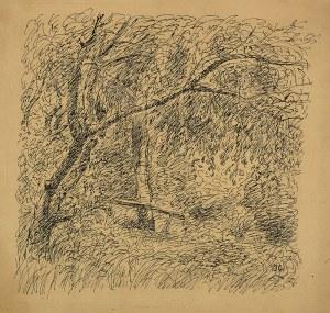 Jan Cybis (1897 – 1972) W parku, ok. 1946 r.