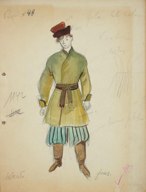 Jan Marcin Szancer (1902 – 1973), Projekt kostiumu męskiego