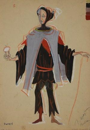 """Józef Szajna (1922 – 2008), Projekt kostiumu Trinculo do """"Burzy"""" Szekspira dla Witolda Pyrkosza"""