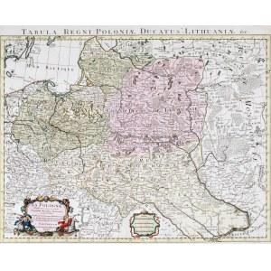 MAPA POLSKI, Guillaume de Lisle, Covens & Mortier, Amsterdam, 1741