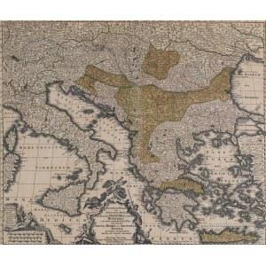MAPA POŁUDNIOWO-WSCHODNIEJ EUROPY, Georg Matthäus Seutter, Augsburg, 1730