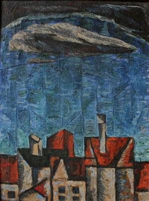 Krystyn Zieliński (1929-2007), Pejzaż z niebem (1955)