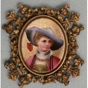 Miniatura Młoda dama w stroju historycznym (I poł.XX w.)