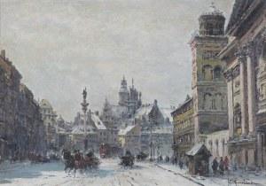 Chmieliński (Stachowicz) Władysław, WARSZAWA. WIDOK NA PLAC ZAMKOWY