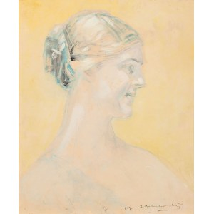 Jacek Malczewski, Szkic do portretu kobiety, 1919