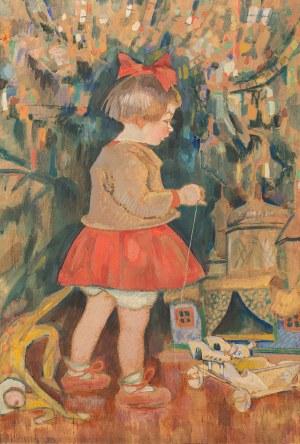 Kazimierz Sichulski, Krzysia pod choinką, 1919