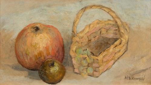 Tadeusz Makowski, Martwa natura z koszykiem i jabłkami, ok. 1915