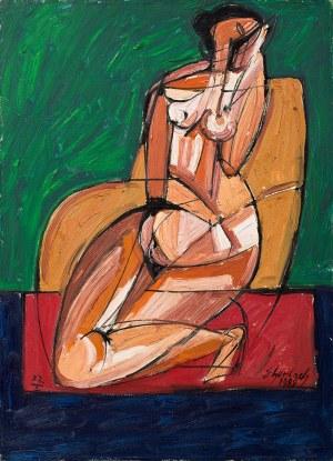 Eugeniusz Gerlach, Siedząca na dywaniku - akt, 1989