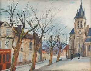 Abraham WEINBAUM (1890-1943), Francuskie miasteczko, ok. 1940
