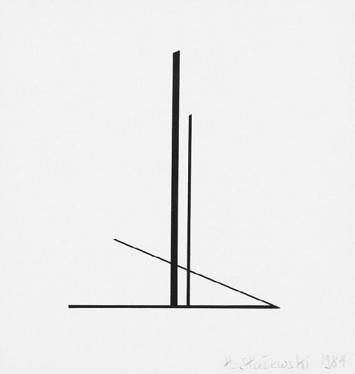 Henryk STAŻEWSKI (1984-1988), Kompozycja geometryczna - tryptyk, 1984