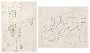 Judyta SOBEL (1924-2012), Para rysunków l. 50. XX w.