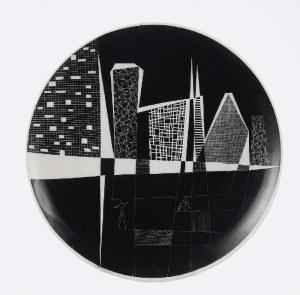 Leszek NOWOSIELSKI (1918-1999) - projektant dekoracji, Talerz dekoracyjny, l. 70. XX w.