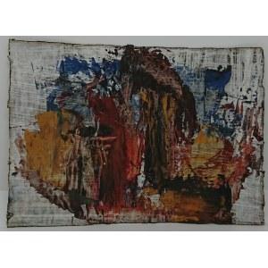 Stanisław Stacha Halpern, Kompozycja abstrakcyjna w brązie, czerwieni i błękicie