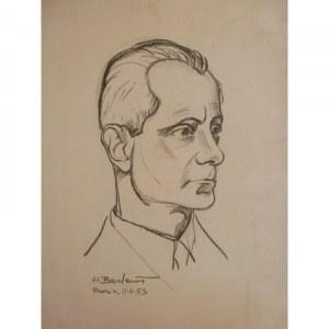 Henryk Berlewi, Portret, 1953