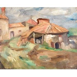 Jacques Gotko (1899 Odessa – 1944 Auschwitz) Pejzaż z chatami