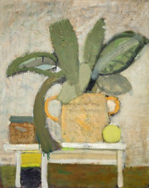Artur Nacht-Samborski (1898 Kraków – 1974 Warszawa) Liście w ugrowym dzbanie, ok. 1960