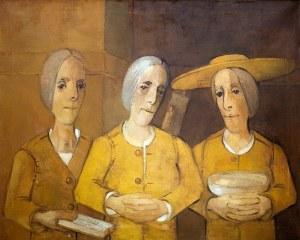 Kiejstut Bereźnicki (ur. 1935 Poznań) Trzy kobiety w tonacji żółtej, 1994