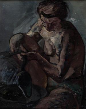 Leopold Gottlieb, Kobieta zdzbanem