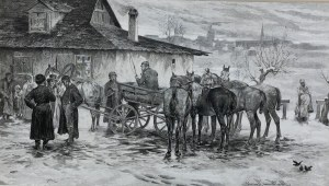Alfred Wierusz - Kowalski (1849-1915), Na wsi