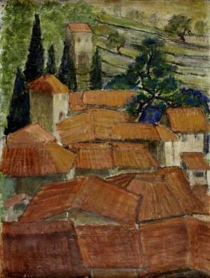 Stanisław Borysowski (1901 - 1988), Czerwone dachy, ok. 1938