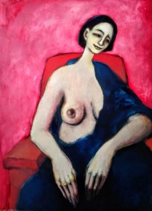 Miro Biały, Anna, Akt na czerwonym fotelu, 2015 r.