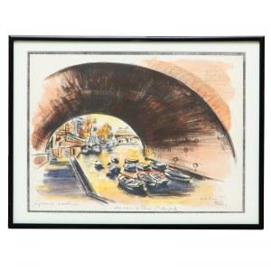Michael Adlen (1898– 1980) Vue sous le Pont St. Michel