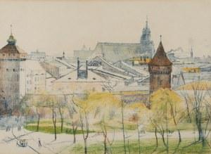 STANISŁAW PODGÓRSKI (1882-1964), Mury Krakowa, 1911