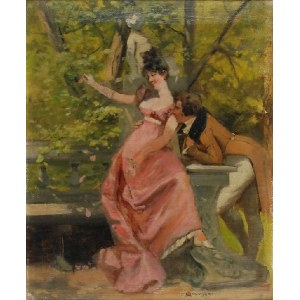 JAN CZESŁAW MONIUSZKO (1853-1908), Para w parku - Telimena i Tadeusz