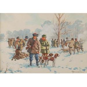 MIECZYSŁAW SZCZERBIŃSKI (1900?-1981), Polowanie zimą