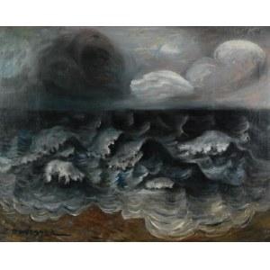 ZYGMUNT DOBRZYCKI (1896-1970), Wzburzone morze