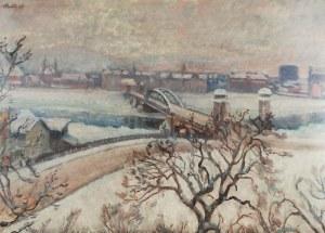 Fryderyk PAUTSCH (1877-1950), Zimowa panorama miejska, 1925