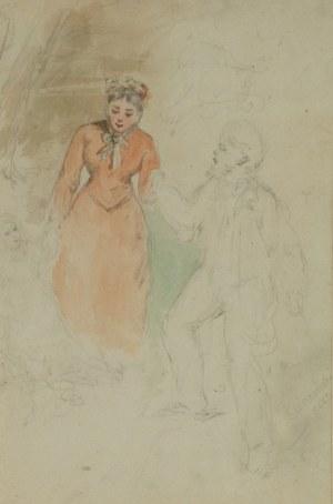 Saturnin ŚWIERZYŃSKI (1820-1883), Na przechadzce, 1883