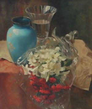 Maria KRUSZEWSKA-ROTWAND (1905-2007), Lilie i róże, 1965
