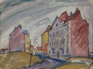 Jan BEDNARSKI (1891-1956), Pejzaż z domami