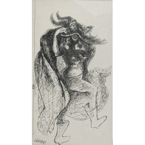 Hieronim SKURPSKI (1914-2006), Dziewczyna z turoniem, 1979