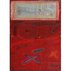 Tomasz STANDO (ur. 1953), Kompozycja z czerwonym xem /collage