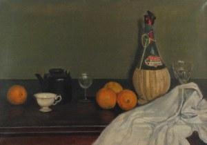 Juliusz KRAJEWSKI (1905-1992), Martwa natura z butelką Chianti