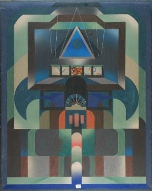 Bernard BRAUN (ur. 1935), Świątynia - z cyklu Świątynie