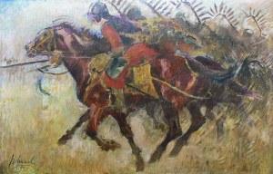 Kazimierz Sichulski (1879 Lwów-1942 tamże) Husaria, 1935 r.