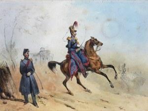 Victor Adam (1801 Paryż – 1867 Viroflay) Sceny militarne