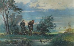 Franciszek KOSTRZEWSKI (1826-1911), Polowanie, 1890