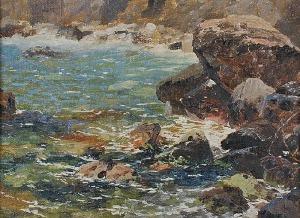 Ferdynand RUSZCZYC (1870-1936), Skalisty brzeg, 1895