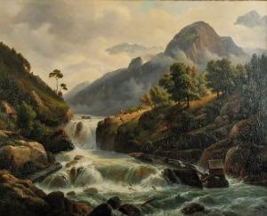 Chrystian BRESLAUER (1805-1882), Pejzaż z Norwegii
