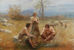 Antoni PIOTROWSKI (1853-1924), Idylla pasterska, 1907