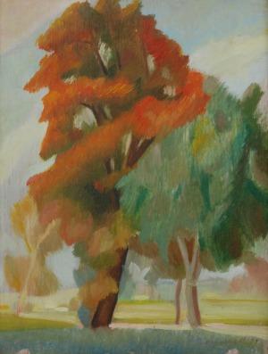 Marian NIŻYŃSKI (1910-1943), Jesienne drzewa, 1929