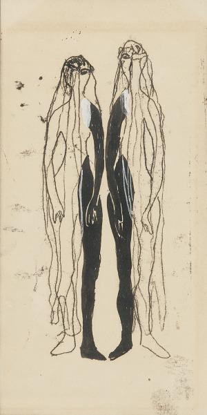 """Maria JAREMA (1908-1958), """"Mątwa"""" - projekt kostiumu do przedstawienia Witkacego, 1956"""