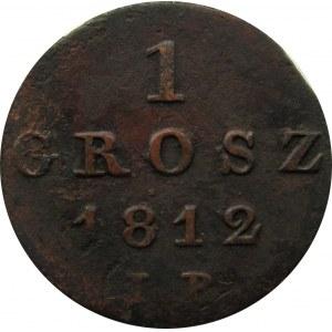 Księstwo Warszawskie, 1 grosz 1812 I.B., Warszawa