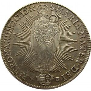 Austria, Maria Teresa, talar 1763, Kremnica, ładny egzemplarz